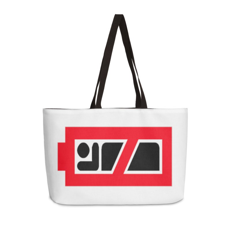 No Sleep Battery Accessories Weekender Bag Bag by Chicago Music's Apparel and Retail Shop