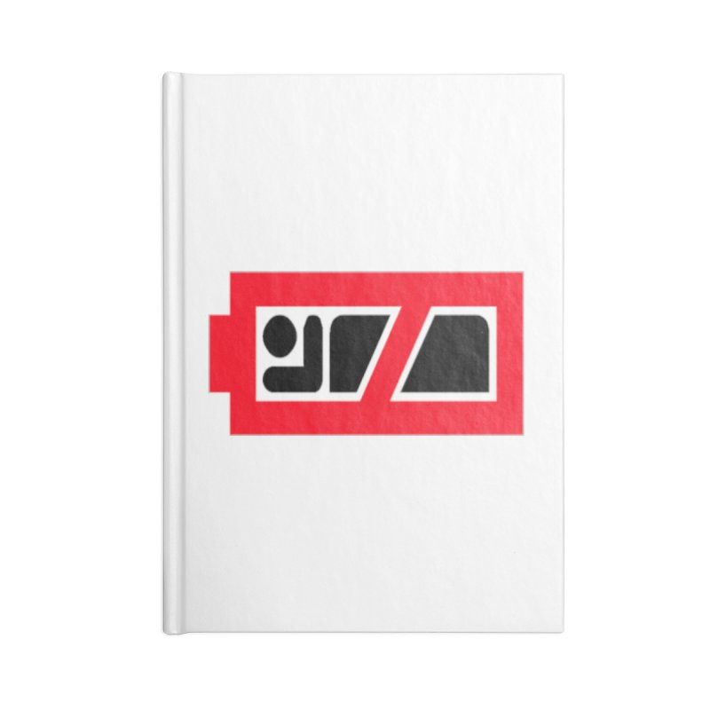 No Sleep Battery Accessories Notebook by Chicago Music's Apparel and Retail Shop