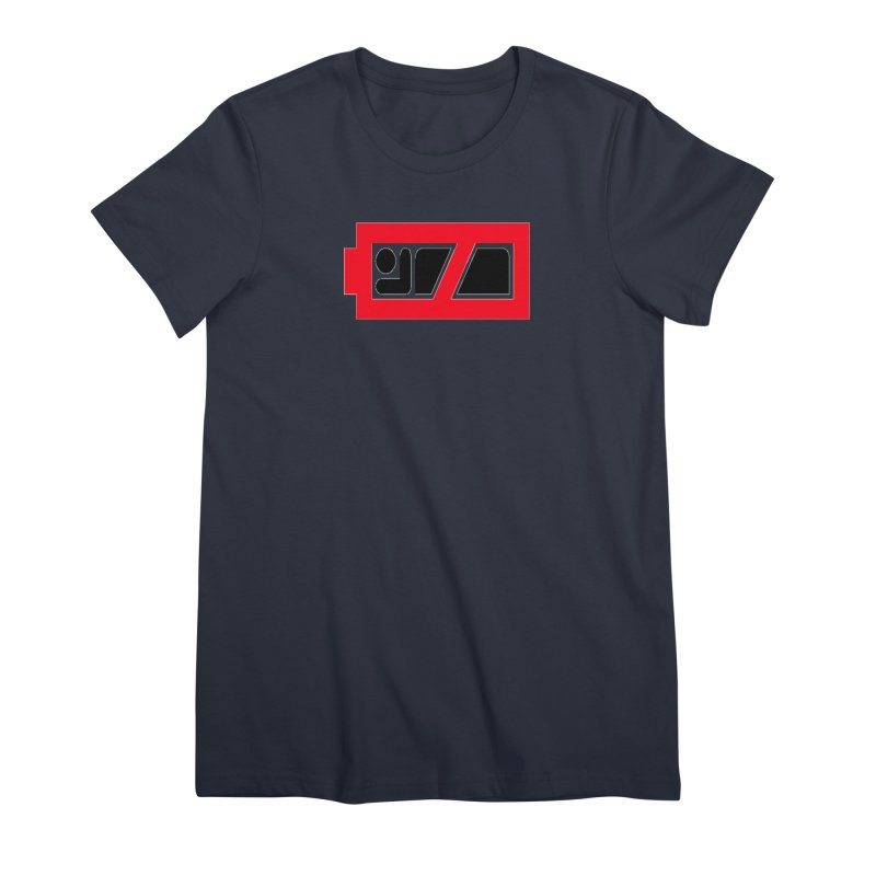 No Sleep Battery Women's Premium T-Shirt by Chicago Music's Apparel and Retail Shop