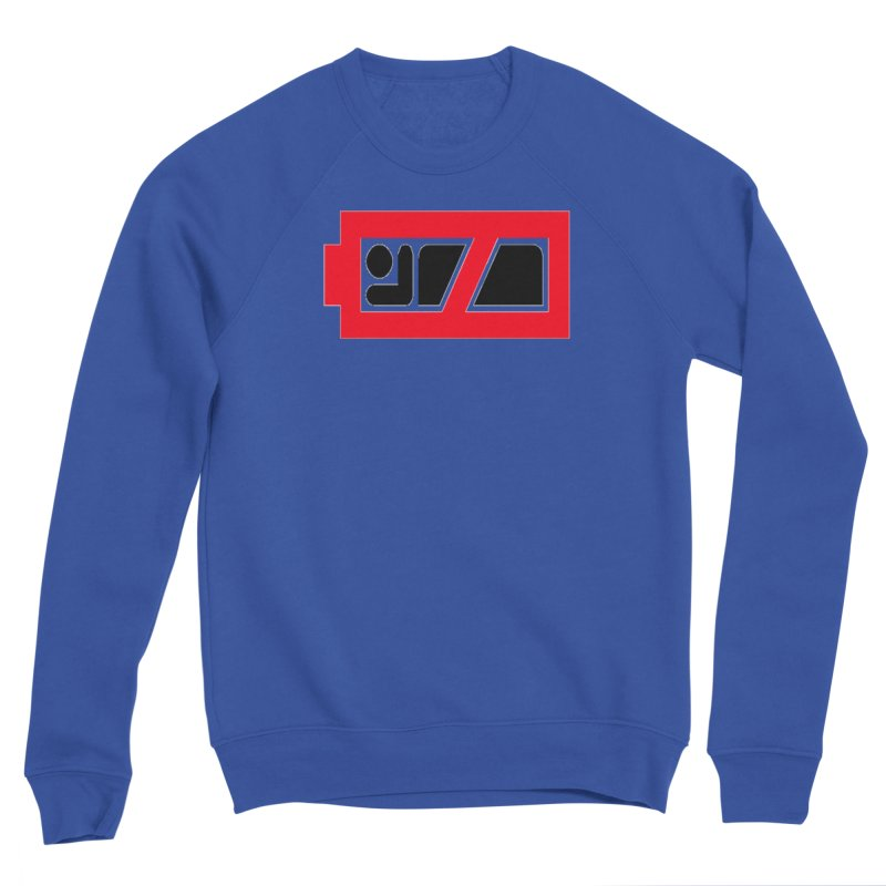 No Sleep Battery Men's Sponge Fleece Sweatshirt by Chicago Music's Apparel and Retail Shop