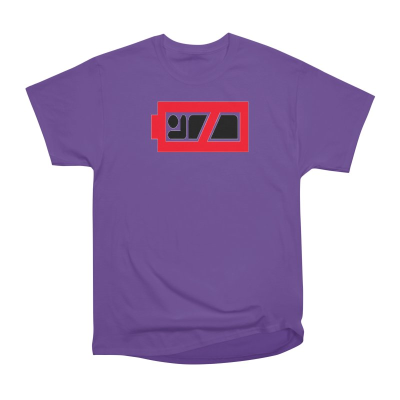 No Sleep Battery Men's Heavyweight T-Shirt by Chicago Music's Apparel and Retail Shop