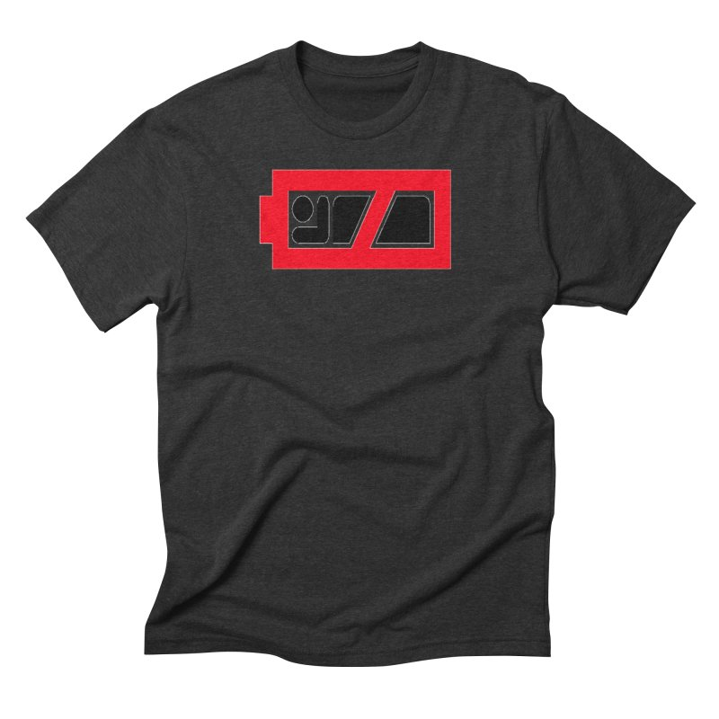 No Sleep Battery Men's Triblend T-Shirt by Chicago Music's Apparel and Retail Shop