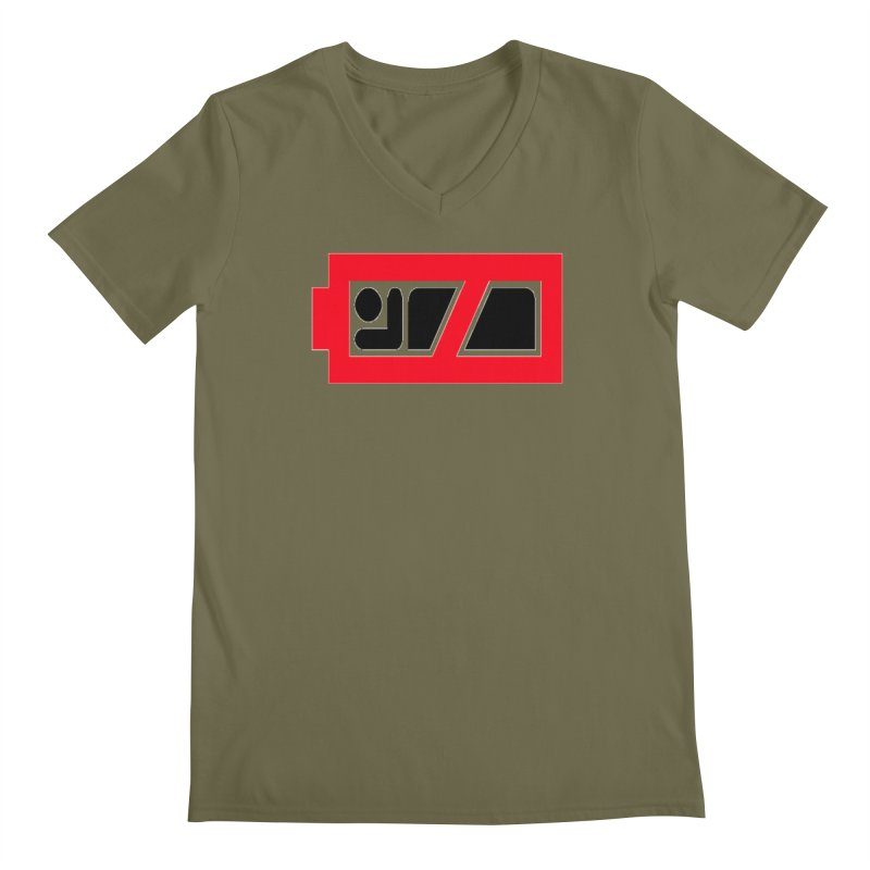 No Sleep Battery Men's Regular V-Neck by Chicago Music's Apparel and Retail Shop