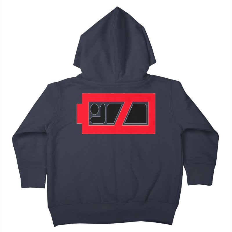 No Sleep Battery Kids Toddler Zip-Up Hoody by Chicago Music's Apparel and Retail Shop