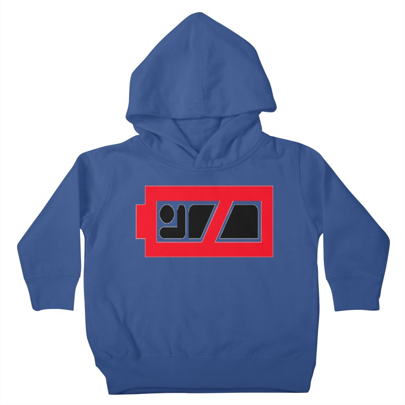 No Sleep Battery Kids Toddler Pullover Hoody by Chicago Music's Apparel and Retail Shop
