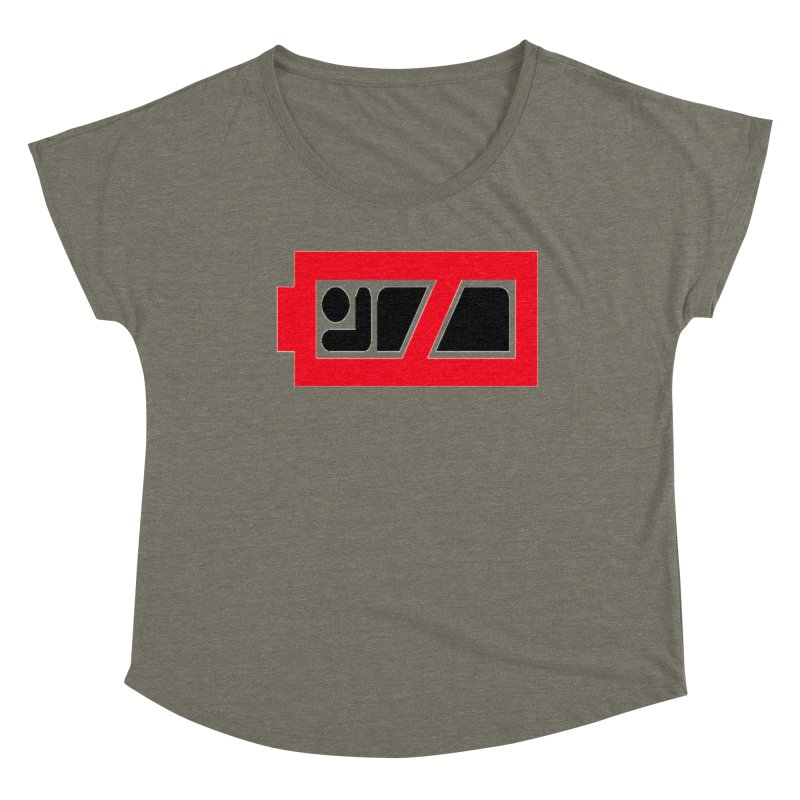 No Sleep Battery Women's Dolman Scoop Neck by Chicago Music's Apparel and Retail Shop