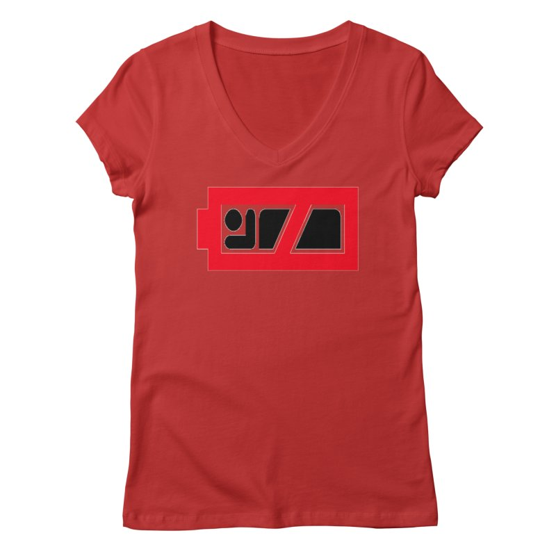 No Sleep Battery Women's V-Neck by Chicago Music's Apparel and Retail Shop