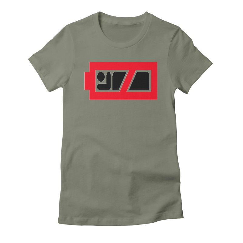 No Sleep Battery Women's Fitted T-Shirt by Chicago Music's Apparel and Retail Shop