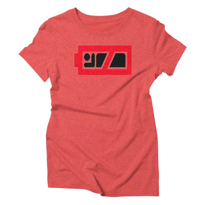 No Sleep Battery Women's Triblend T-Shirt by Chicago Music's Apparel and Retail Shop