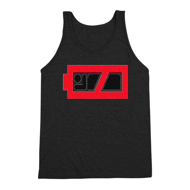 No Sleep Battery Men's Triblend Tank by Chicago Music's Apparel and Retail Shop