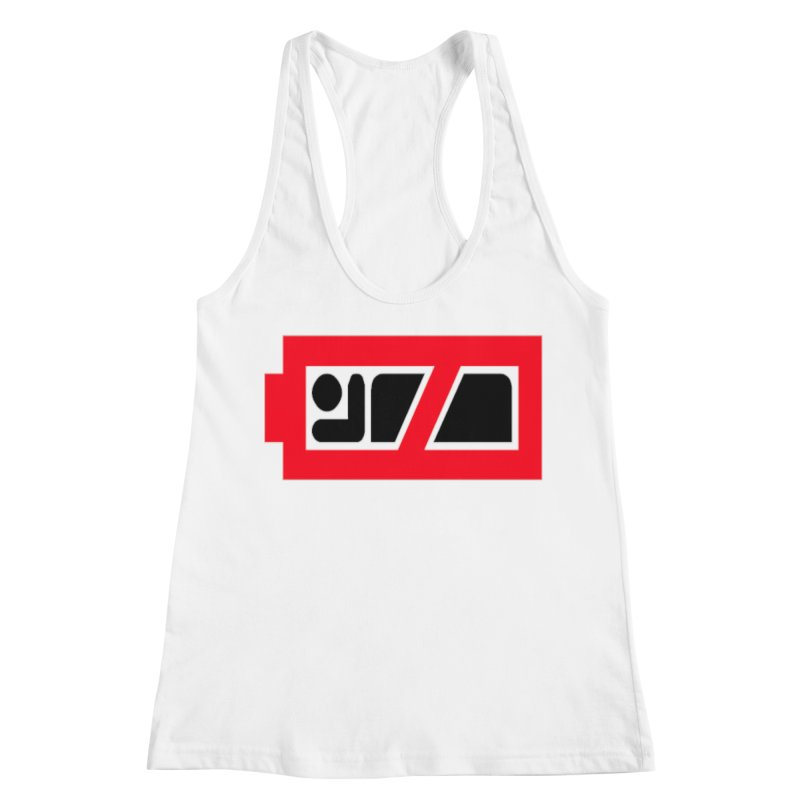 No Sleep Battery Women's Racerback Tank by Chicago Music's Apparel and Retail Shop