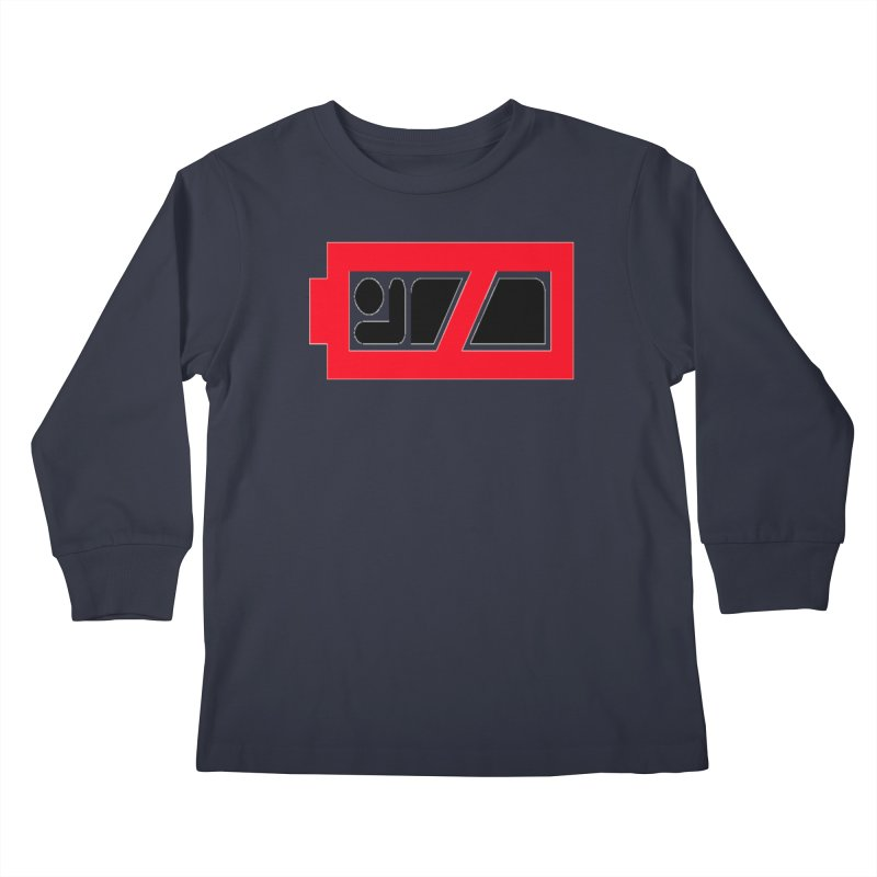 No Sleep Battery Kids Longsleeve T-Shirt by Chicago Music's Apparel and Retail Shop