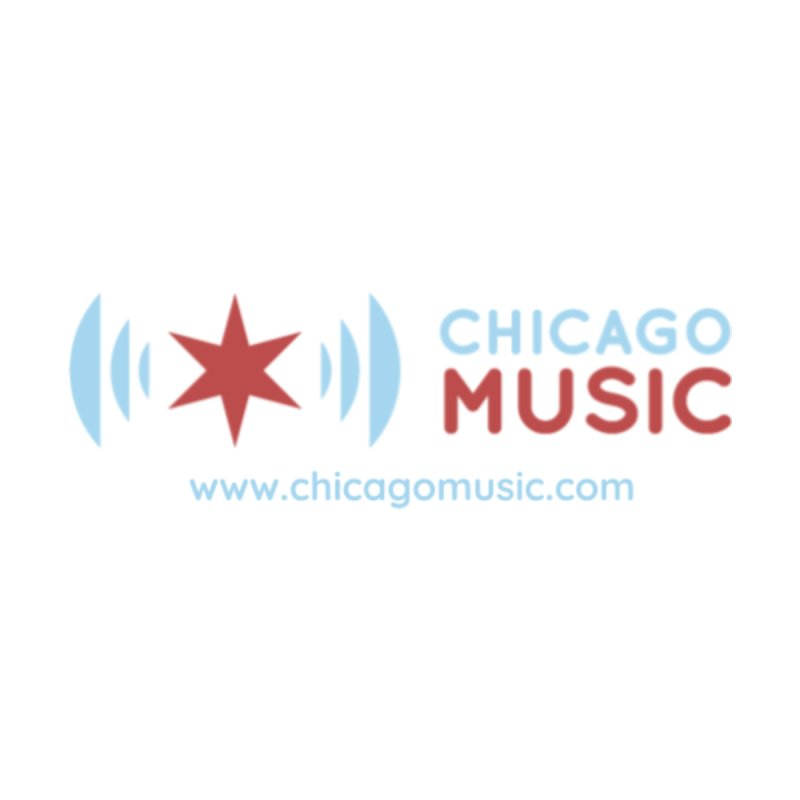 Chicago Music Logo Website Women's Scoop Neck by Chicago Music's Apparel and Retail Shop