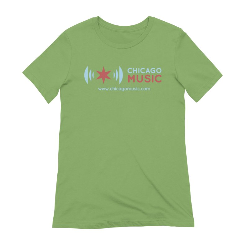 Chicago Music Logo Website Women's Extra Soft T-Shirt by Chicago Music's Apparel and Retail Shop
