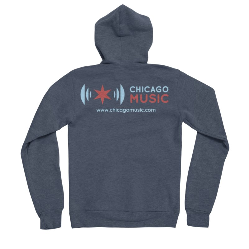 Chicago Music Logo Website Men's Sponge Fleece Zip-Up Hoody by Chicago Music's Apparel and Retail Shop