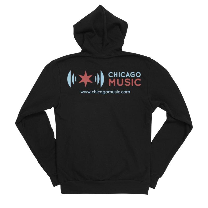 Chicago Music Logo Website Men's Sponge Fleece Zip-Up Hoody by Chicago Music's Apparel and Retail Shop