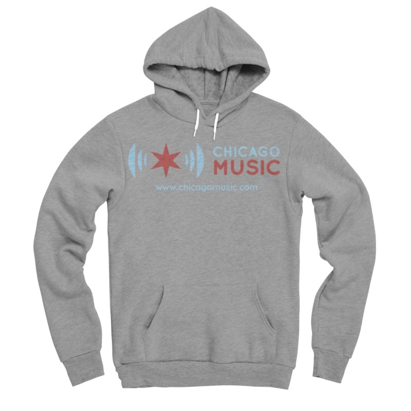 Chicago Music Logo Website Men's Sponge Fleece Pullover Hoody by Chicago Music's Apparel and Retail Shop
