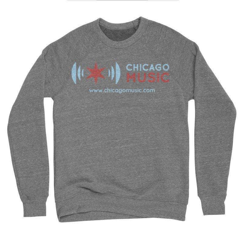 Chicago Music Logo Website Men's Sponge Fleece Sweatshirt by Chicago Music's Apparel and Retail Shop