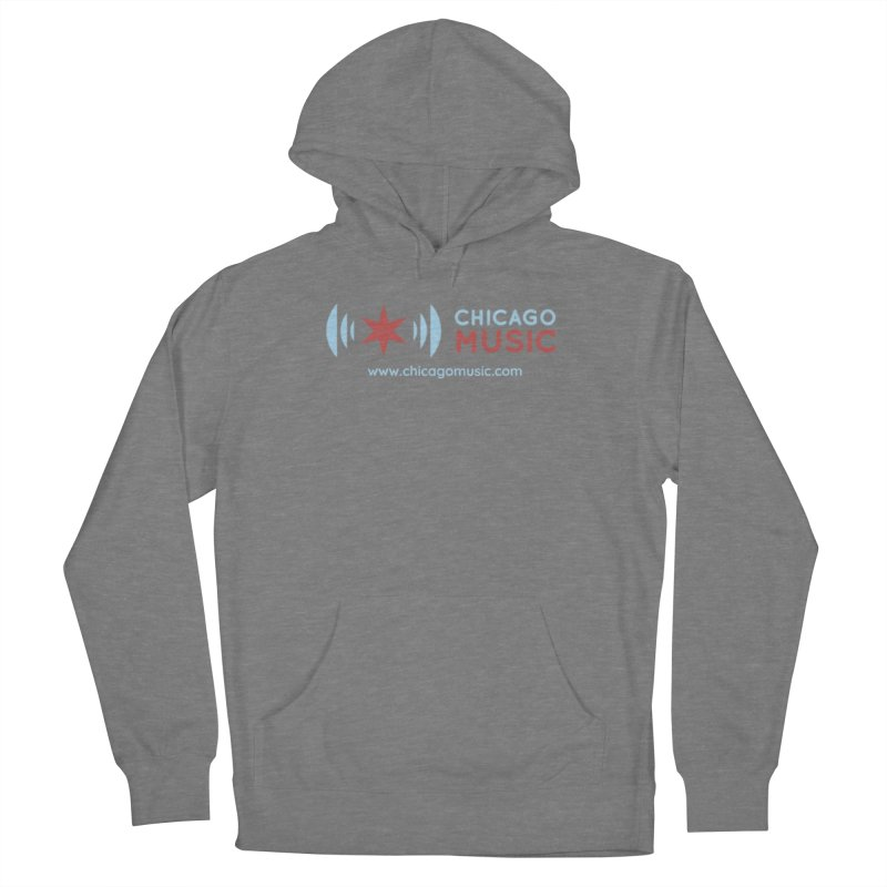Chicago Music Logo Website Women's Pullover Hoody by Chicago Music's Apparel and Retail Shop