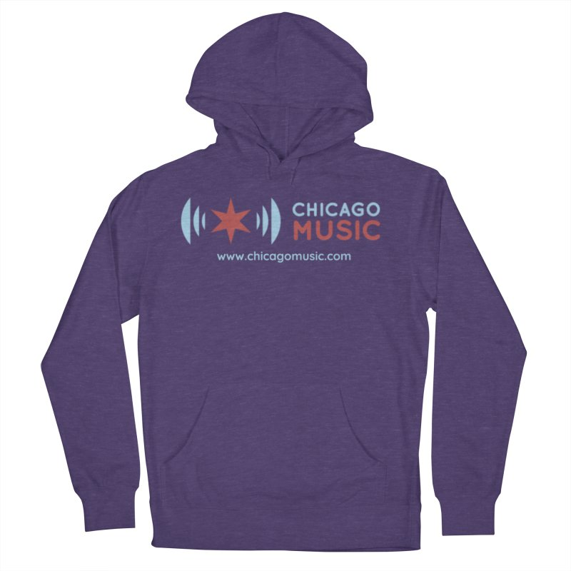 Chicago Music Logo Website Men's Pullover Hoody by Chicago Music's Apparel and Retail Shop