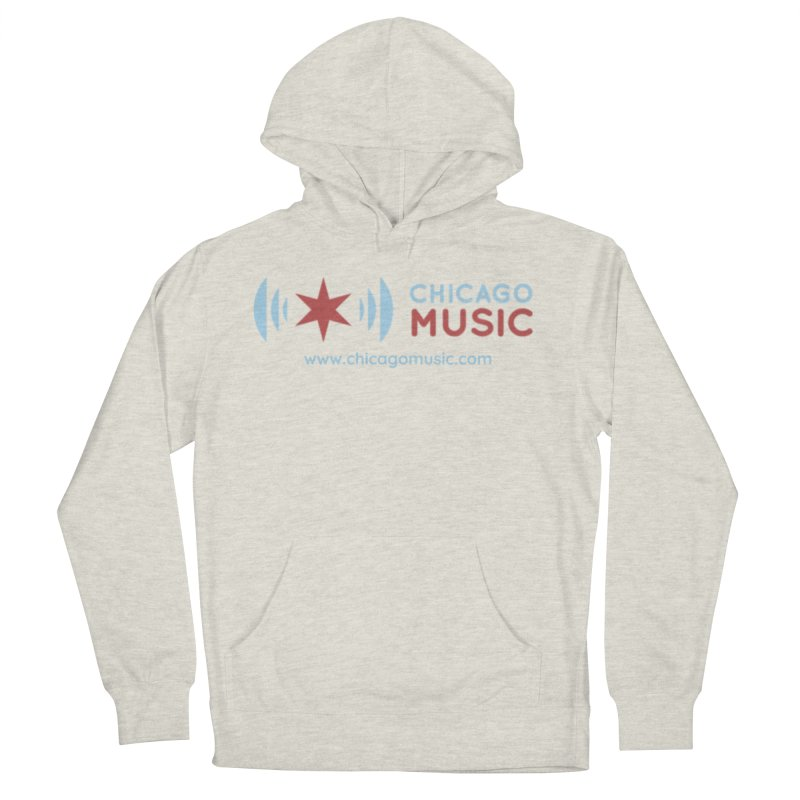 Chicago Music Logo Website Men's French Terry Pullover Hoody by Chicago Music's Apparel and Retail Shop