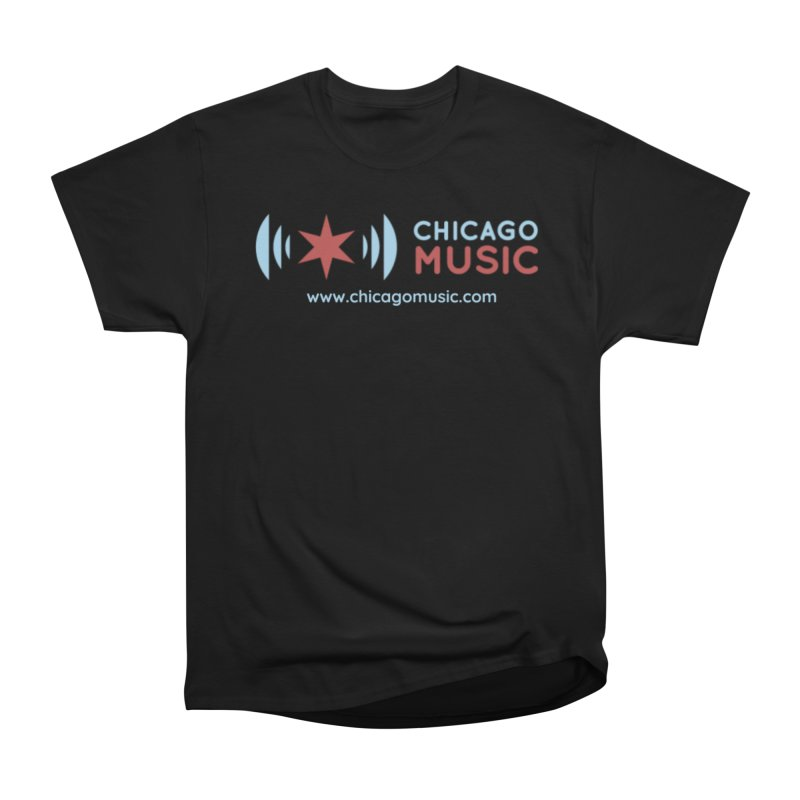 Chicago Music Logo Website in Men's Classic T-Shirt Black by Chicago Music's Artist Shop