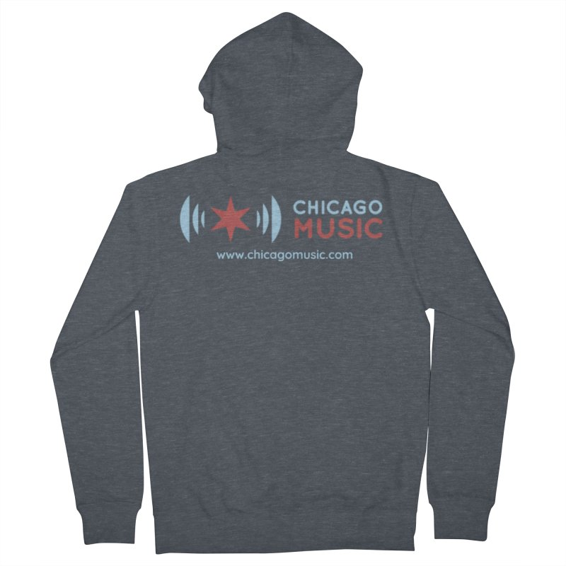 Chicago Music Logo Website Women's Zip-Up Hoody by Chicago Music's Artist Shop