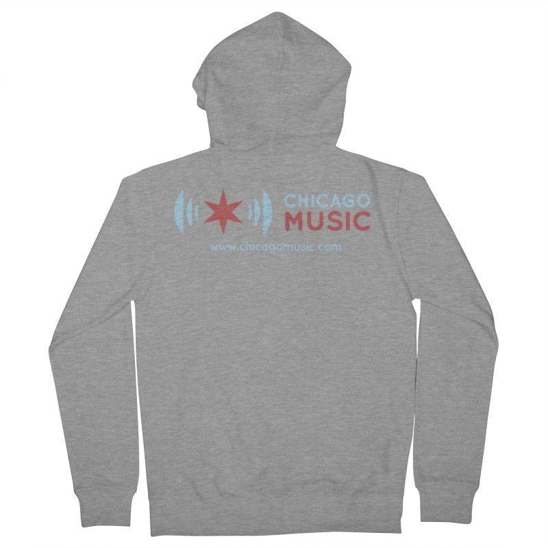 Chicago Music Logo Website Women's French Terry Zip-Up Hoody by Chicago Music's Apparel and Retail Shop