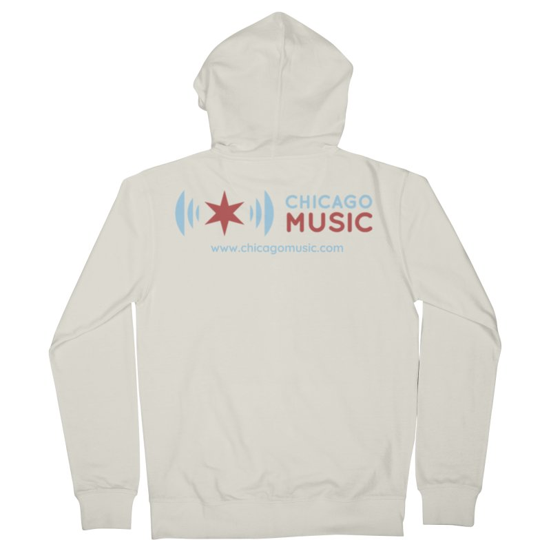 Chicago Music Logo Website Men's French Terry Zip-Up Hoody by Chicago Music's Apparel and Retail Shop
