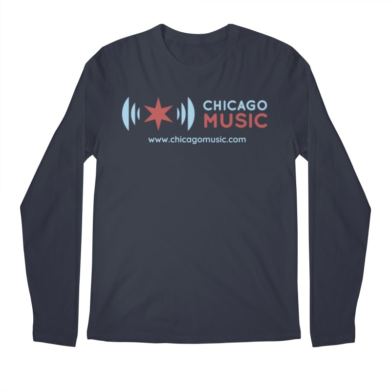 Chicago Music Logo Website Men's Regular Longsleeve T-Shirt by Chicago Music's Apparel and Retail Shop