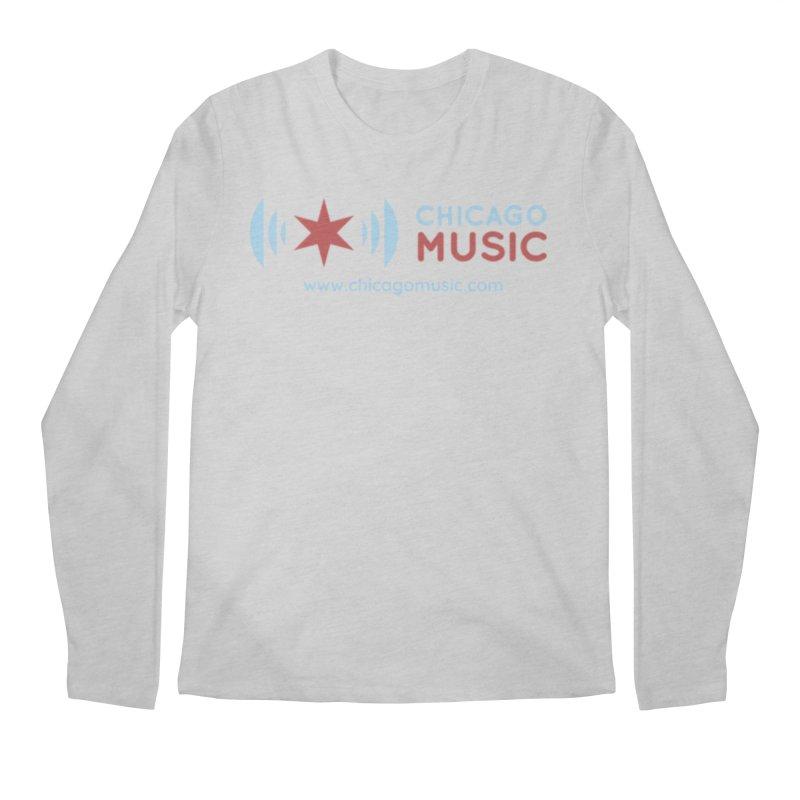 Chicago Music Logo Website Men's Regular Longsleeve T-Shirt by Chicago Music's Apparel and Retail Shop