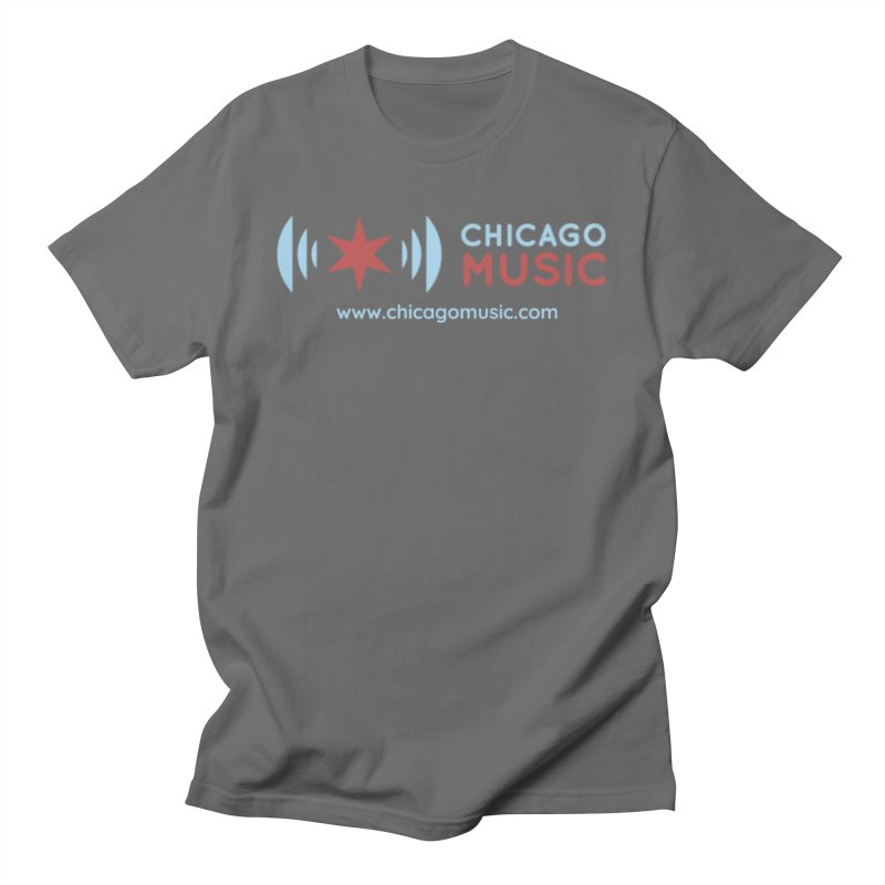 Chicago Music Logo Website Men's T-Shirt by Chicago Music's Apparel and Retail Shop