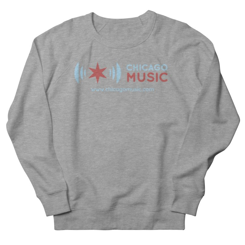 Chicago Music Logo Website Men's French Terry Sweatshirt by Chicago Music's Apparel and Retail Shop
