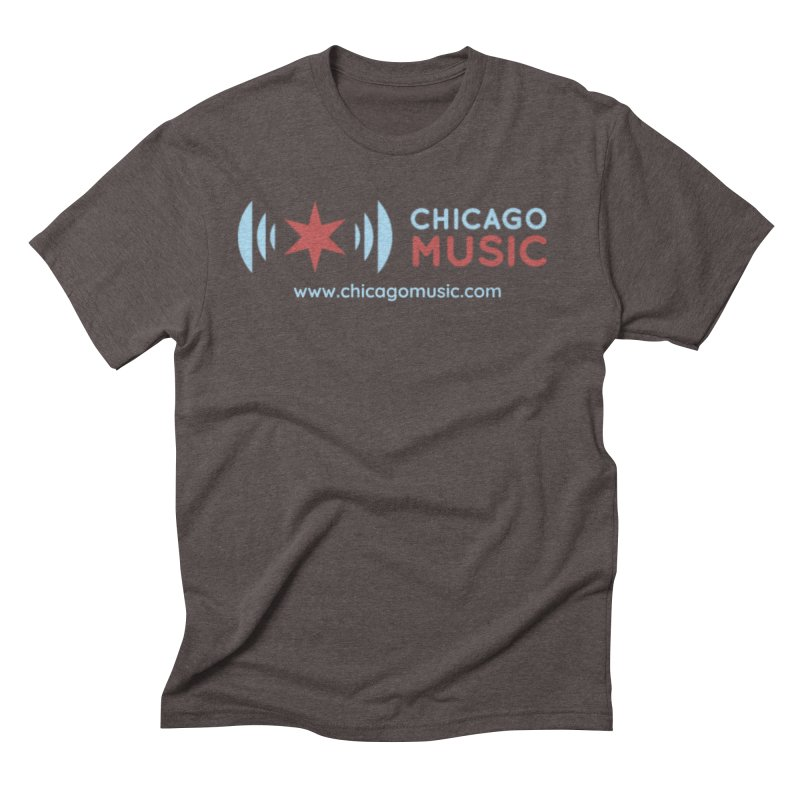 Chicago Music Logo Website Men's Triblend T-Shirt by Chicago Music's Apparel and Retail Shop