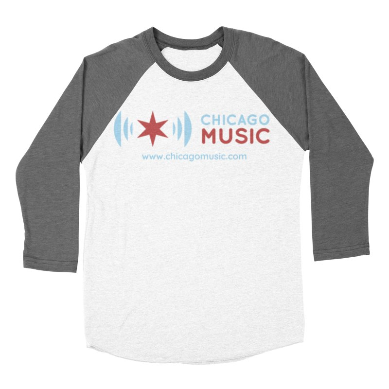 Chicago Music Logo Website Women's Baseball Triblend Longsleeve T-Shirt by Chicago Music's Apparel and Retail Shop