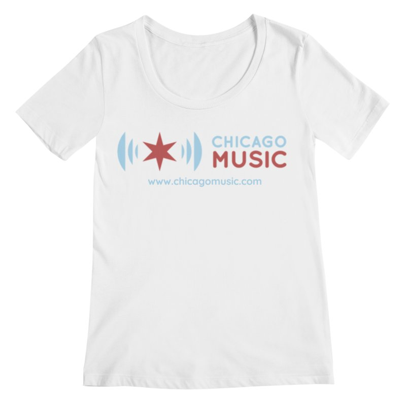 Chicago Music Logo Website Women's Regular Scoop Neck by Chicago Music's Apparel and Retail Shop