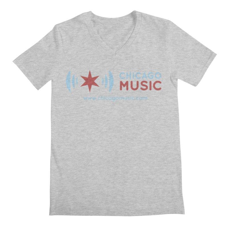 Chicago Music Logo Website Men's Regular V-Neck by Chicago Music's Apparel and Retail Shop