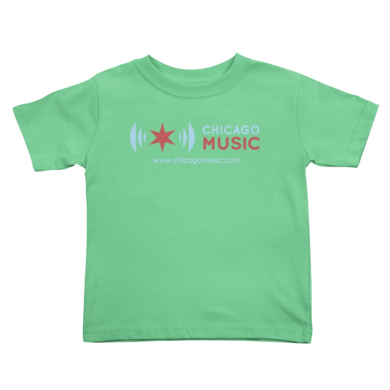 Chicago Music Logo Website Kids Toddler T-Shirt by Chicago Music's Apparel and Retail Shop
