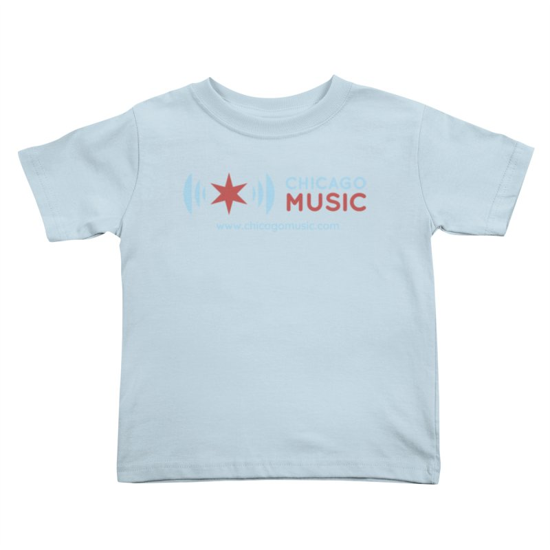 Chicago Music Logo Website Kids Toddler T-Shirt by Chicago Music's Artist Shop