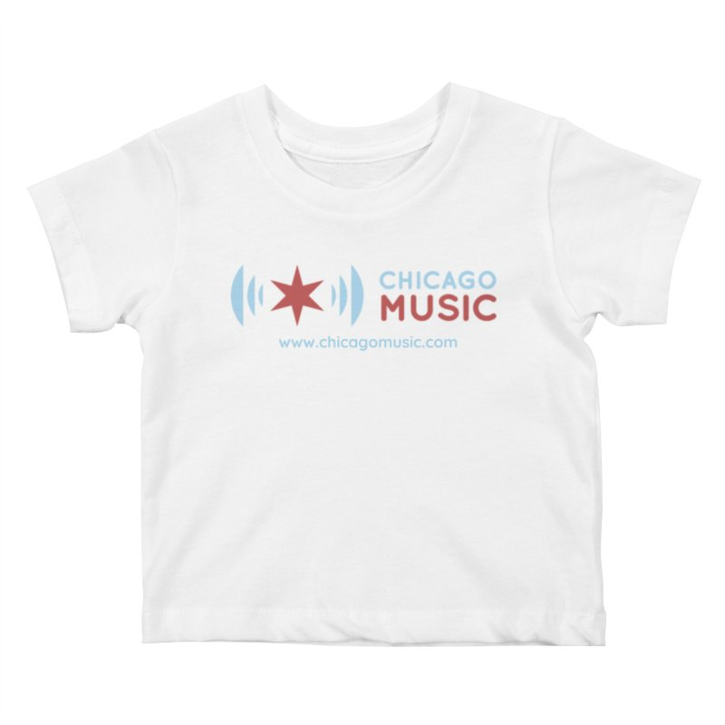 Chicago Music Logo Website Kids Baby T-Shirt by Chicago Music's Apparel and Retail Shop