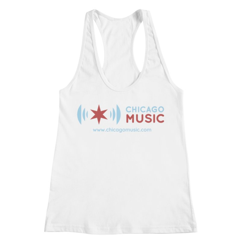 Chicago Music Logo Website Women's Racerback Tank by Chicago Music's Apparel and Retail Shop