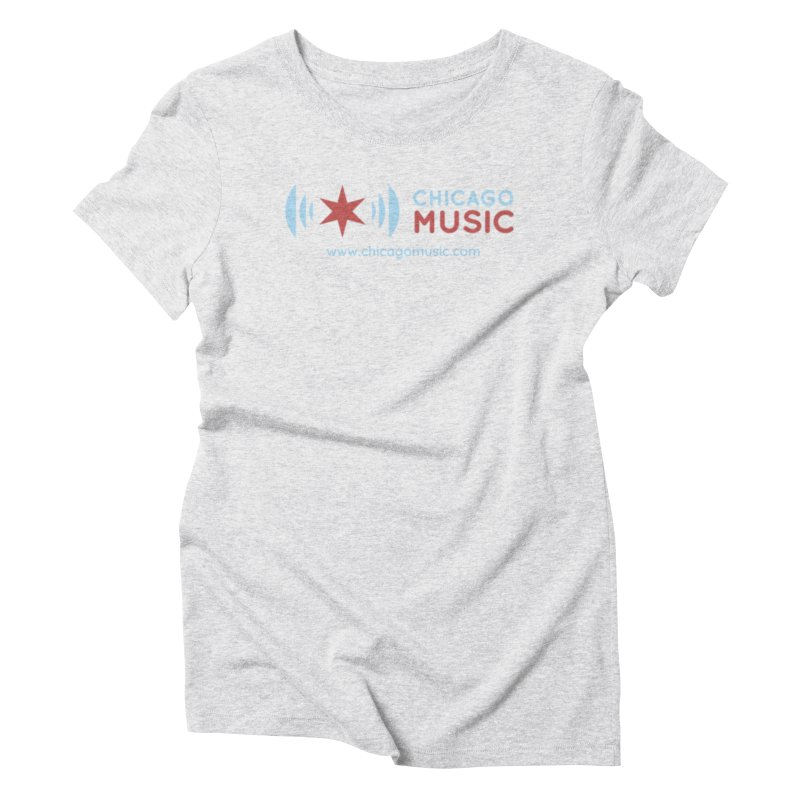 Chicago Music Logo Website Women's T-Shirt by Chicago Music's Apparel and Retail Shop