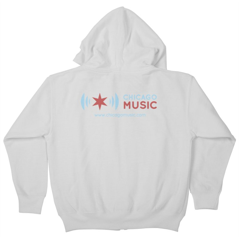 Chicago Music Logo Website Kids Zip-Up Hoody by Chicago Music's Artist Shop