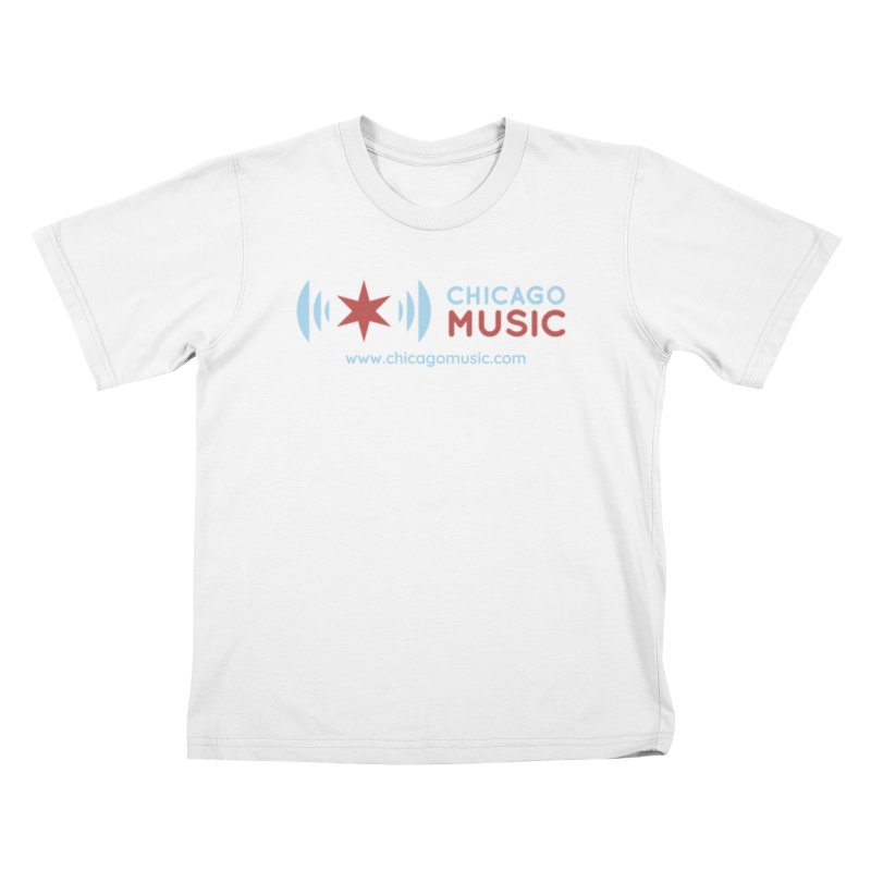 Chicago Music Logo Website Kids T-Shirt by Chicago Music's Apparel and Retail Shop