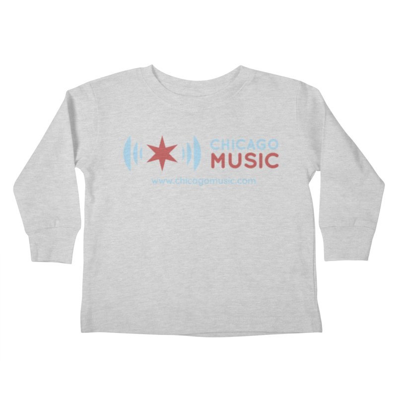 Chicago Music Logo Website Kids Toddler Longsleeve T-Shirt by Chicago Music's Apparel and Retail Shop