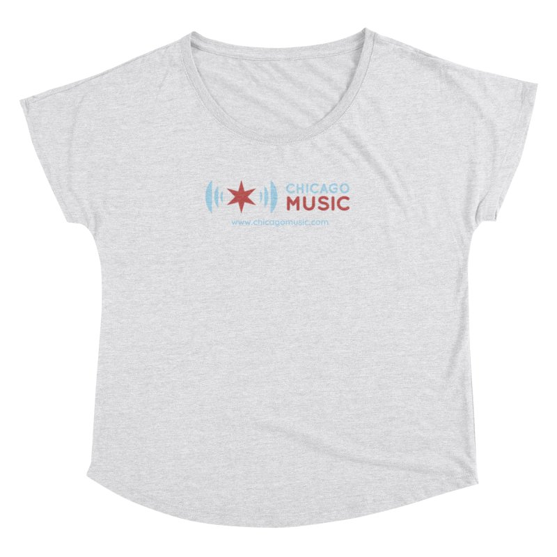 Chicago Music Logo Website Women's Dolman Scoop Neck by Chicago Music's Apparel and Retail Shop