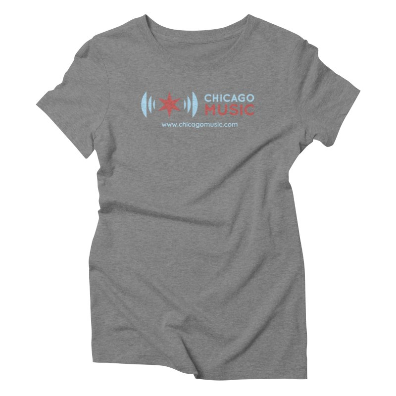 Chicago Music Logo Website Women's Triblend T-Shirt by Chicago Music's Apparel and Retail Shop