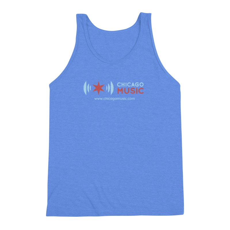 Chicago Music Logo Website Men's Triblend Tank by Chicago Music's Apparel and Retail Shop