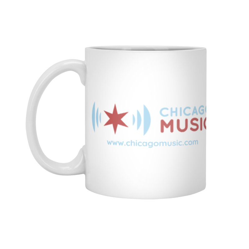 Chicago Music Logo Website Accessories Mug by Chicago Music's Apparel and Retail Shop