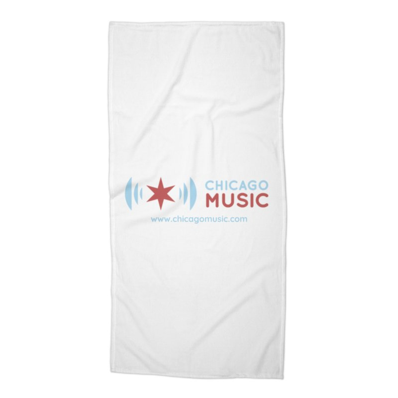 Chicago Music Logo Website Accessories Beach Towel by Chicago Music's Artist Shop